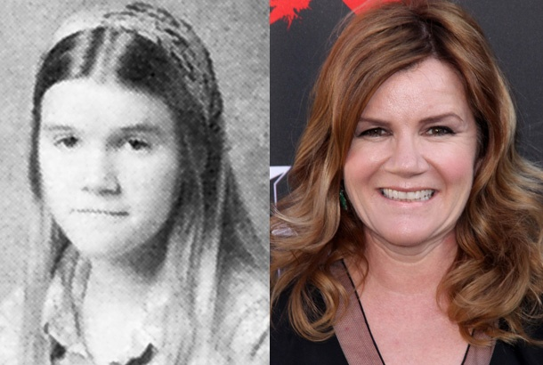 Mare Winningham as a Junior at Chatsworth High School in California in 1976 and Mare Winningham in 2012