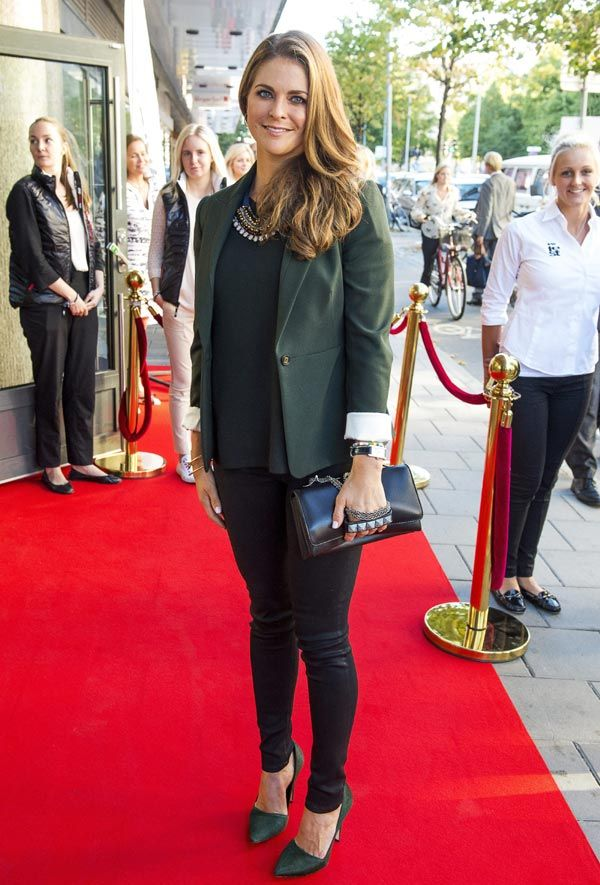 "Princess Madeleine attended the official launch event of ""Thank You by Childhood"" in Sweden. Princess Madeleine is wearing Cartier Juste Un Clou Nail Bracelets, and a Cartier Tank Solo Watch. She is carrying the Valentino Rockstud Va Va Voom Crystal Stud Bag."