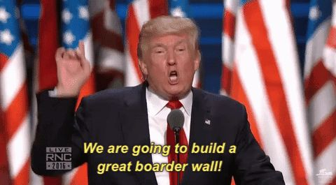 New trending GIF on Giphy. donald trump rnc republican national convention rnc 2016 were going to build a great boarder wall. Follow Me CooliPhone6Case on Twitter Facebook Google Instagram LinkedIn Blogger Tumblr Youtube