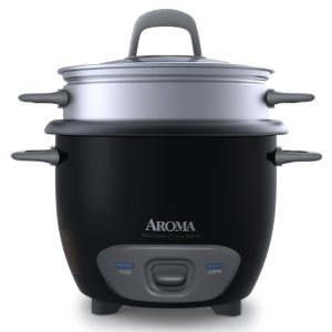 #7: Aroma ARC-743-1NGB 6-Cup (Cooked) Rice Cooker and Food Steamer , Black