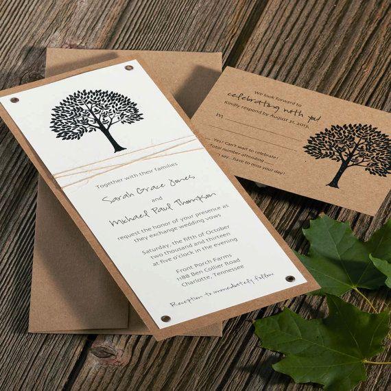 Spring Wedding Invitations . Wedding by ArielShulerDesign on Etsy, $2.95