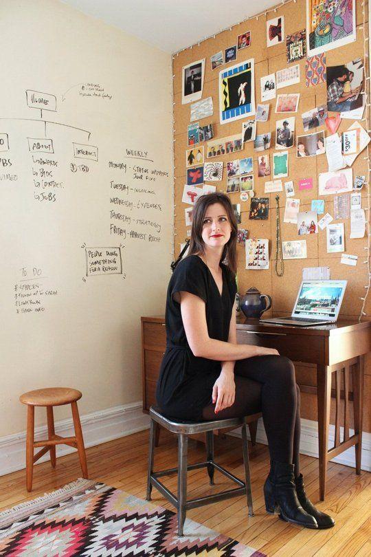 Alana's Brooklyn Railroad — House Tour LOVE - chairs on walls; textiles as wall art
