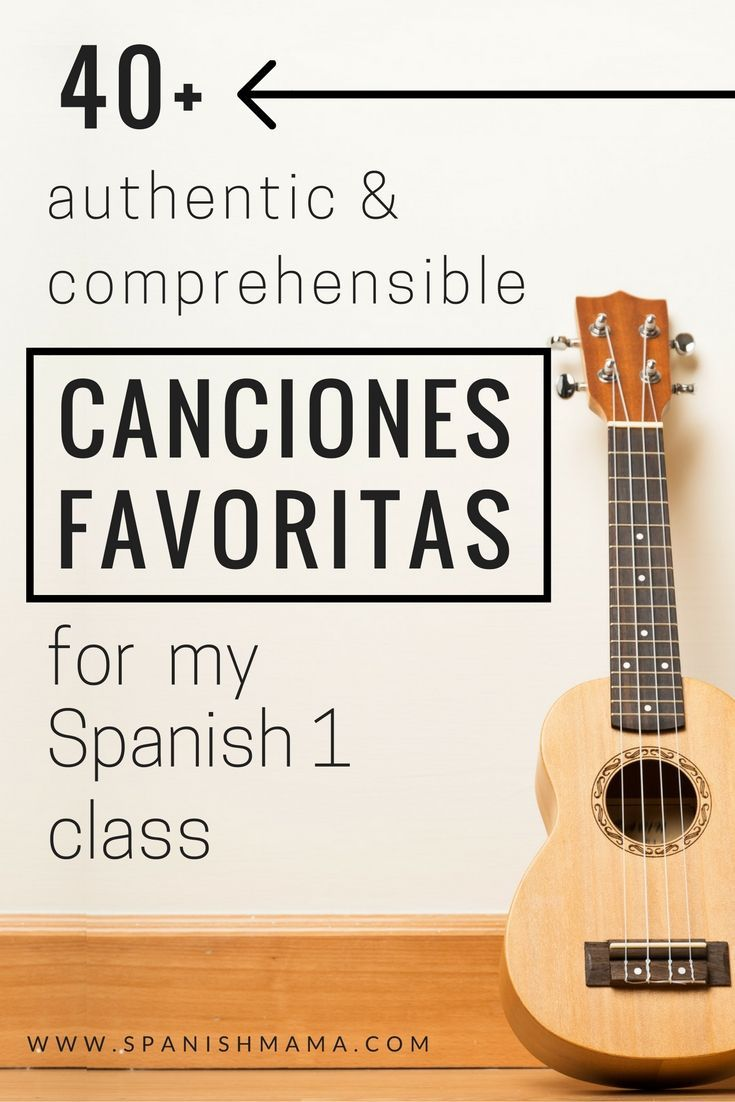 Authentic Songs for My Spanish I Class- a list of more than 40 authentic and comprehensible songs, perfect for beginning classes.