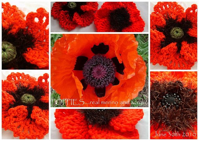 #crochet #poppy #flower