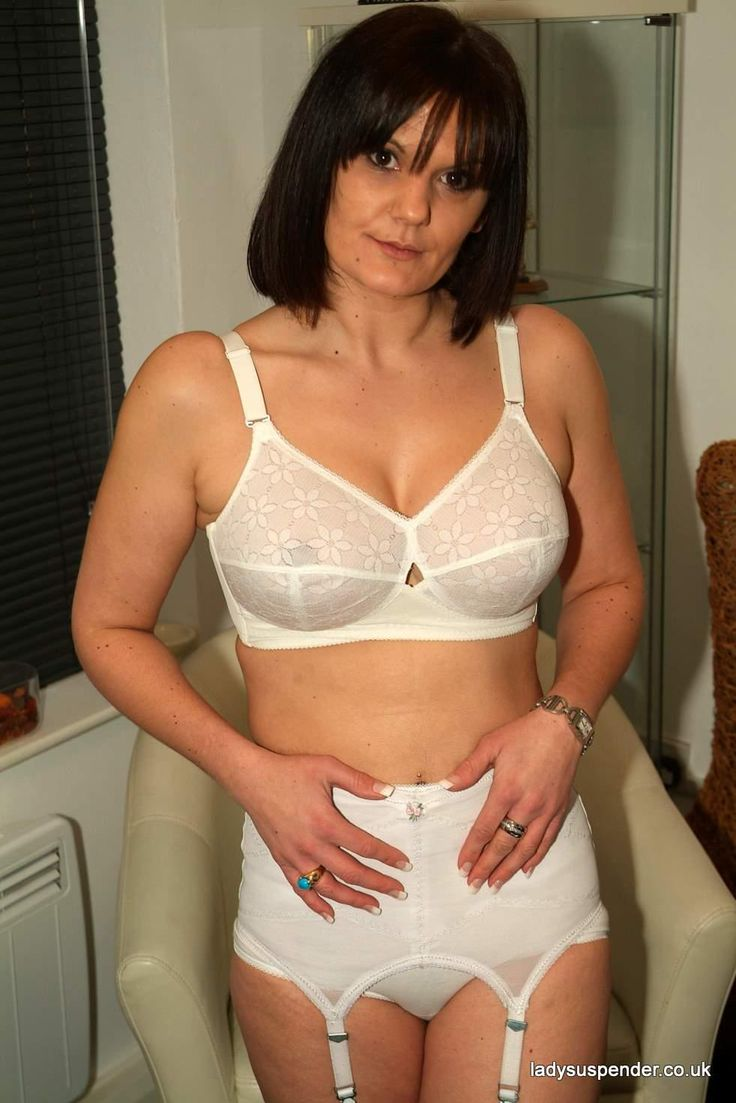 Woman girdle mature bra