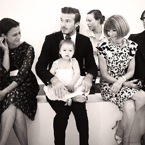 David Beckham with his adorable daughter Harper at #NYFW!