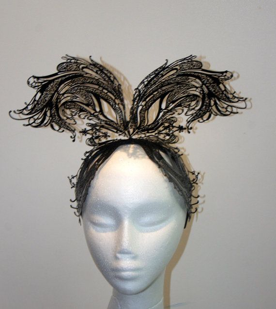 Desinger metal lace fascinator one of a by TwistedInTheTropics