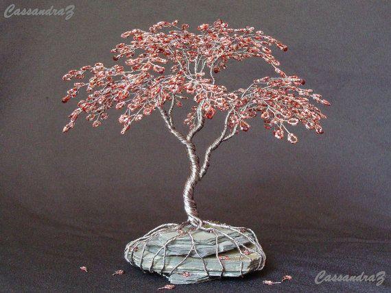Japanese Maple Beaded Bonsai Wire Tree Sculpture door CassandraZ