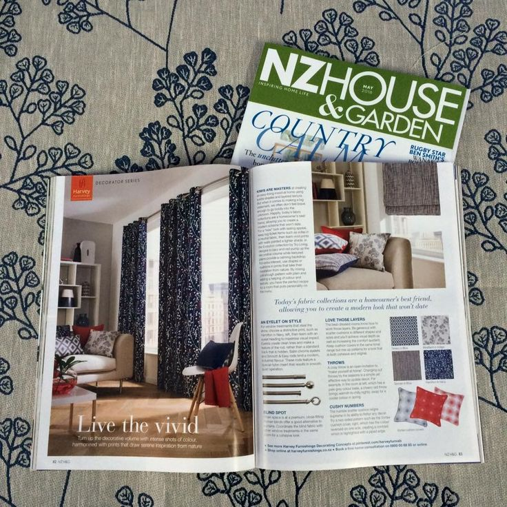 Harvey Furnishings Decorator Series in NZ House & Garden Magazine May 2016