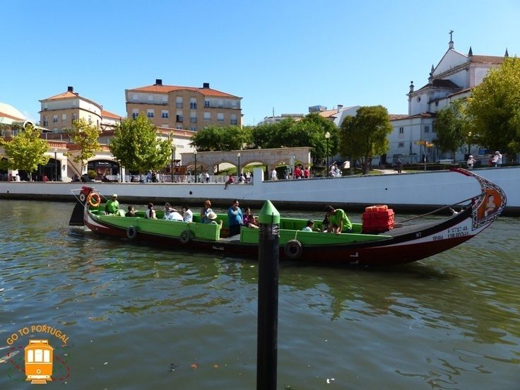 "Discover some of the canals in Aveiro aboard of one of the typical boats, the ""moliceiros""."