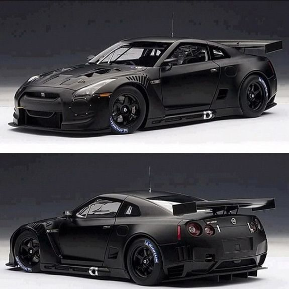 Matte Black GT-R, my dream car right here!! I'd add a little pink to the interior,  and pink underglow. So beautiful!