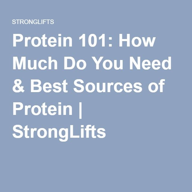 Protein 101: How Much Do You Need & Best Sources of Protein | StrongLifts