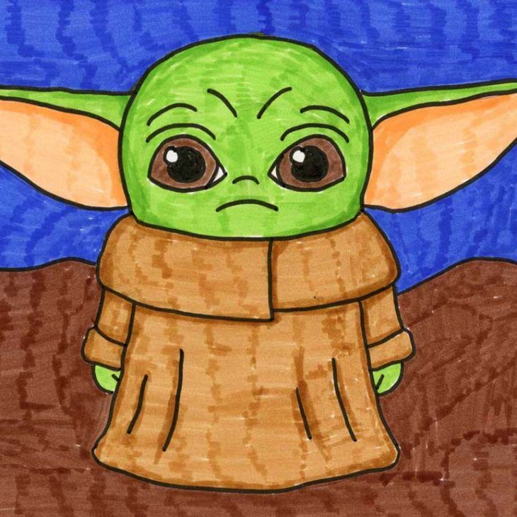 How To Draw Baby Yoda Projets Creatifs Pour Enfants Comment