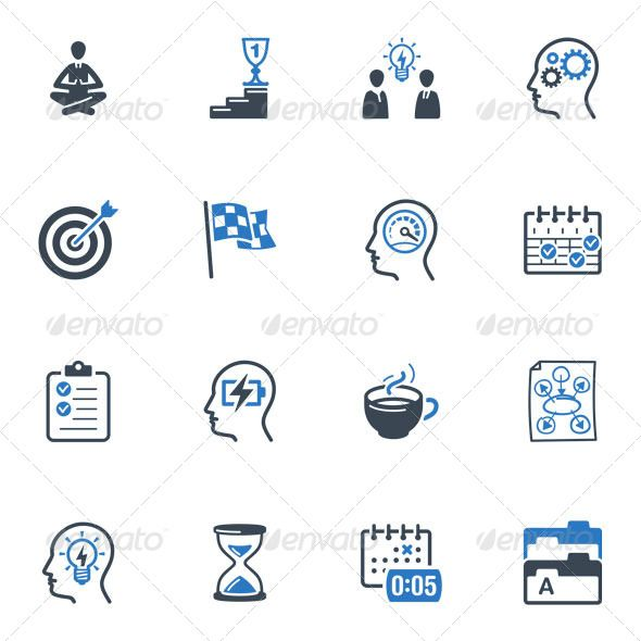 Productive at Work Icons - Blue Series  #GraphicRiver         Set of 16 productive at work icons great for presentations, web design, web apps, mobile applications or any type of design projects. The pack contains EPS, AI, PSD, JPEG (4000×4000) and transparent PNG for each icon (256×256 pixels).     Created: 16December12 GraphicsFilesIncluded: PhotoshopPSD #TransparentPNG #JPGImage #VectorEPS #AIIllustrator HighResolution: Yes Layered: No MinimumAdobeCSVersion: CS Tags: achievement #battery…