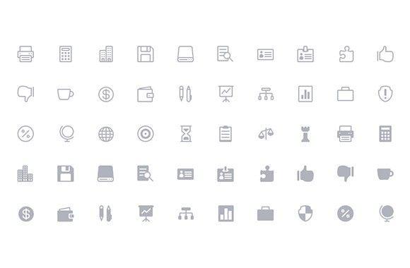 The Elegant Icon Font - 360 free icons