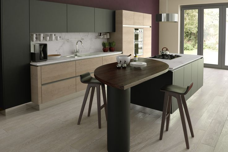 Contemporary Smooth painted in Fired charcoal with Sand Gladstone Oak
