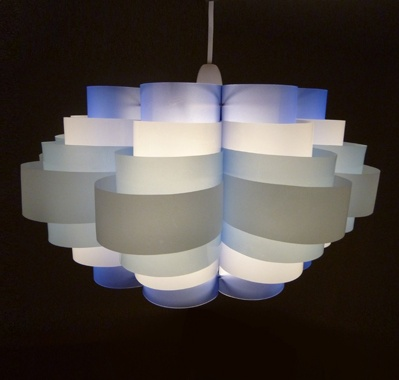 Sarah turner eco art design light fixture made from Eco light fixtures