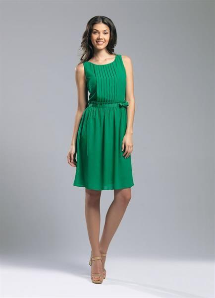 Легкое стильное платье из шифона