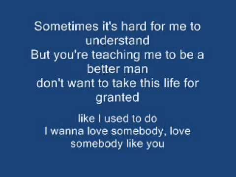 I Wanna Love Somebody Like You - Keith Urban Lyrics