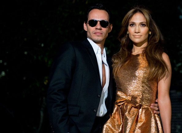 "Singer and actress Jennifer Lopez and husband Marc Anthony attend the ""Fiesta Latina"" concert at the White House."