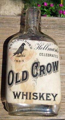Old Crow Whiskey - Hellman's.  This is the version that stole the brand name from the rightful owners and lost a Supreme Court decision and had to stop using it.