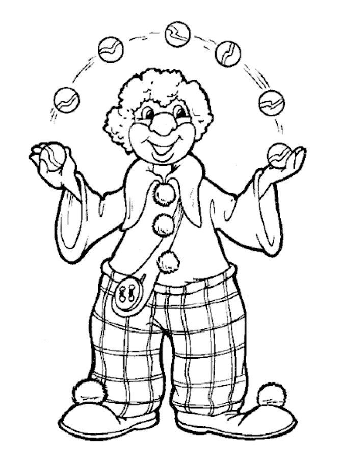 free printable clown coloring pages for kids - Amish Children Coloring Book Pages