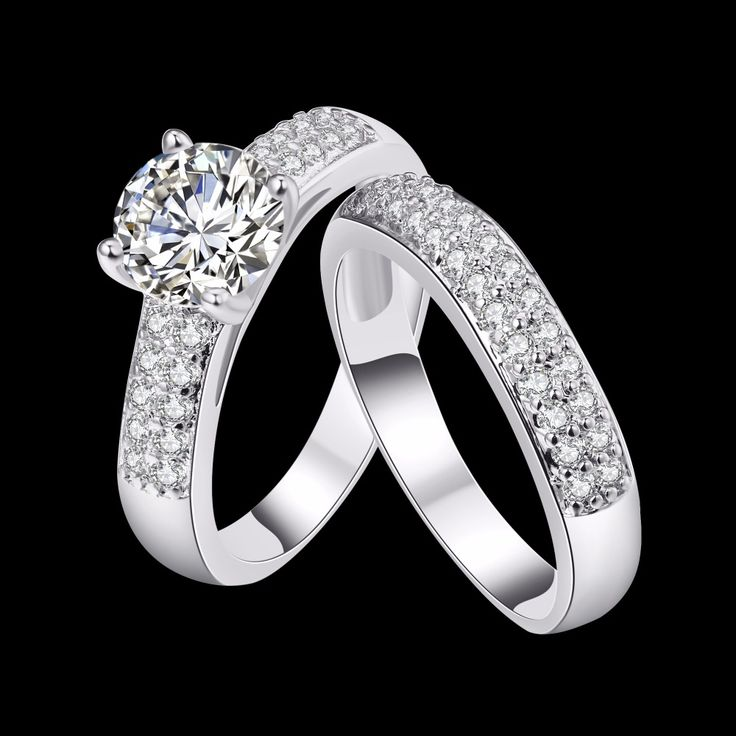Classic Women Ring Vintage Wedding Rings For Women AAA Zircon Shiny Crystal Jewelry Bijoux Gold Color USA Size 5 6 7 8 9