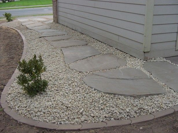 white landscaping rock | awesome ideas for lawn edging black belgium block landscape green