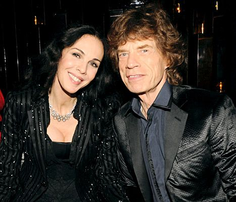 L'Wren Scott and Mick Jagger in NYC on Sept. 21, 2011