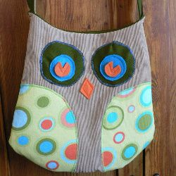 Owl purse -made from old corduroy pants and scrap material.... for my sister:)