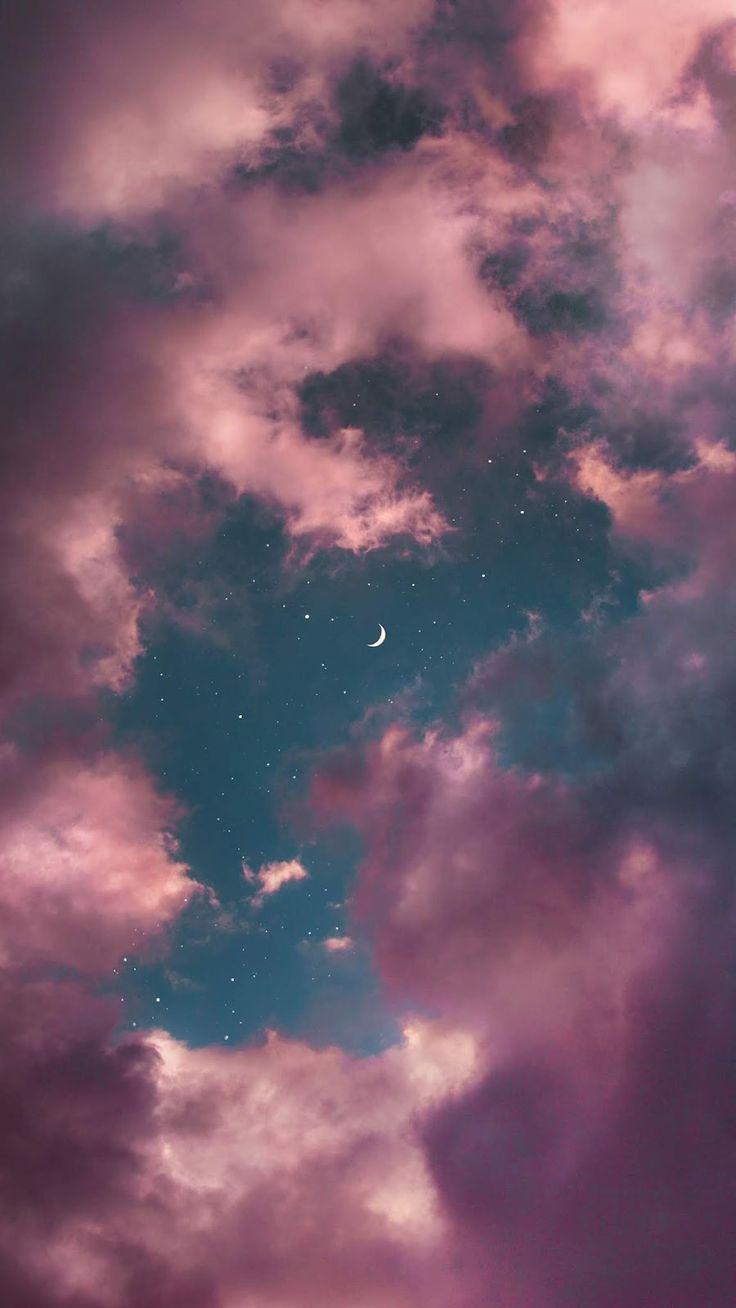 Aesthetic moon wallpaper