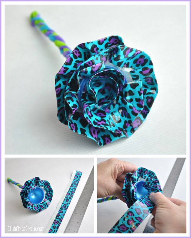 Duct Tape Flowers using Plastic Eggs   Tween Craft Ideas for Mom and Daughter