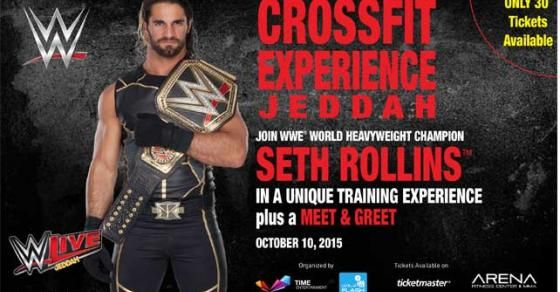 Join WWE World Heavyweight Champion Seth Rollins in a unique CrossFit training experience plus an exclusive meet and greet for 30 fans in Jeddah, Saudi Arabia.