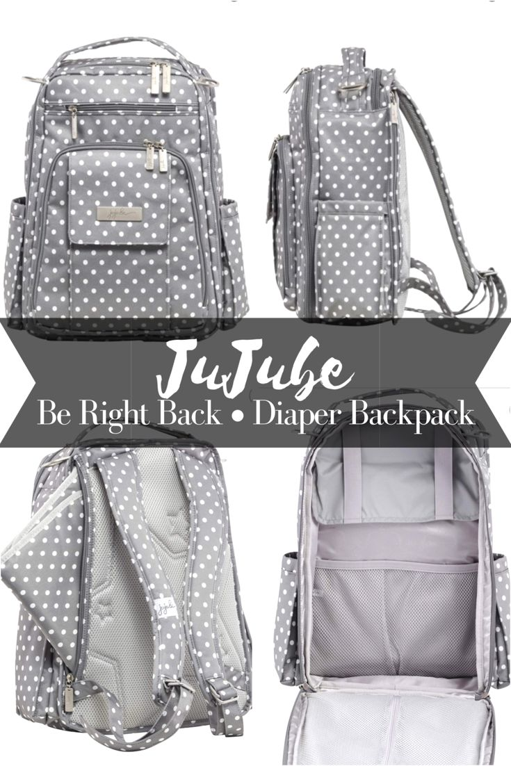 JuJube 'Be Right Back' Diaper Backpack. This gender neutral diaper bag makes life so much easier when you're carrying around a bunch of baby gear! #ad #jujube #baby #diaperbag #genderneutral #babygear #kids #diapers