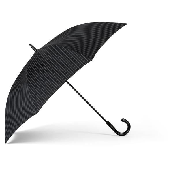 """This natty 48"""" umbrella is perfect for both rainy and sunny days! Its elegant pinstriped look will look classy with any outfit!"""