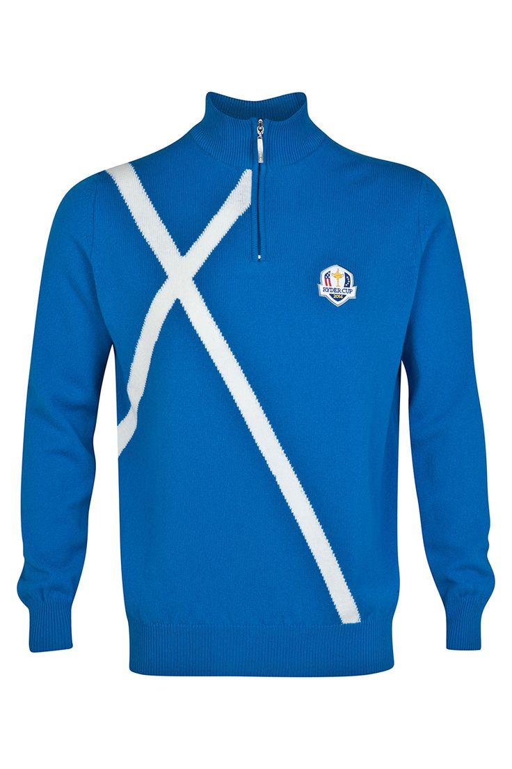 2014 European Ryder Cup Team Zip Neck Sweater – Friday Match Day Team Europe Sweater