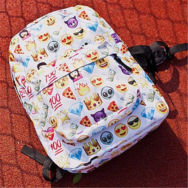 Smiley Emoji Face 3D Printing Backpacks //Price: $15.46 & FREE Shipping // #shoulderbag #vintage #bagsdesigns