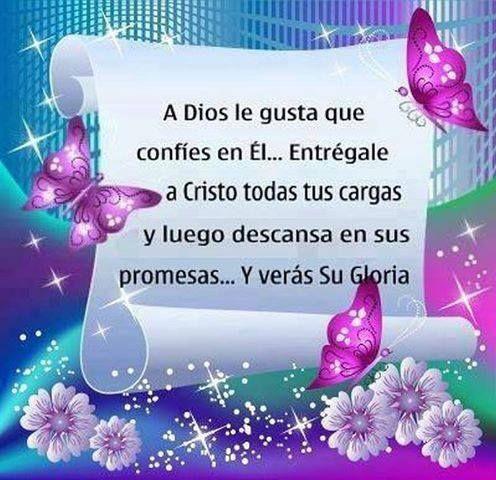 A Dios le gusta que confíes en Él...