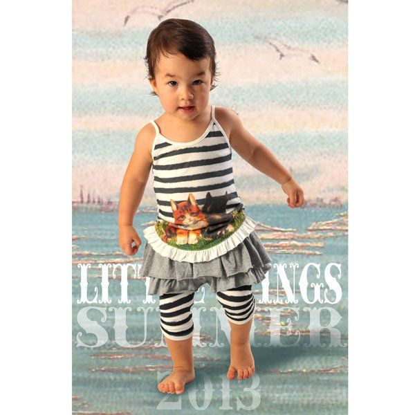 Little Wings charcoal skirt pant