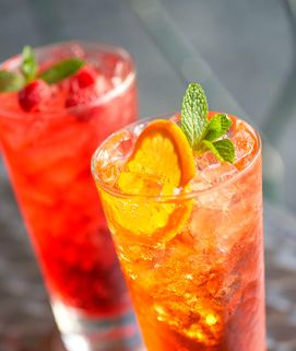 Torani Blood Orange Italian Soda - Basically it's 2 Tbsp Torani syrup for each 8 oz of sparkling water or club soda. Combine your own flavors!