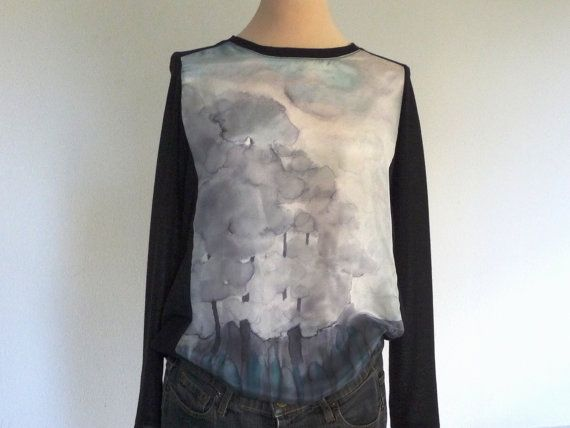 Women topNew collection longsleeves by ArtTetisCollections on Etsy