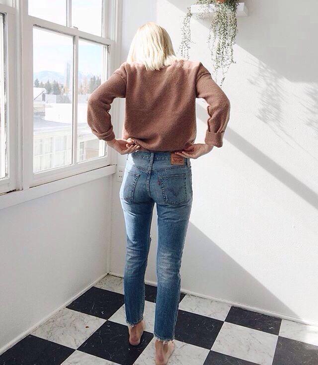levis 721 high rise skinny jeans Annie DeSantis