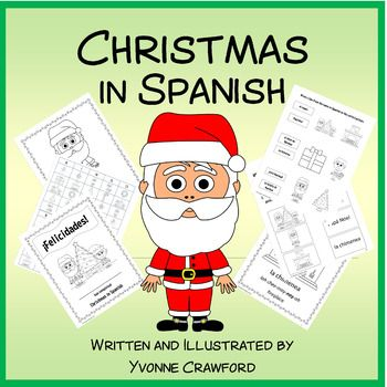 Christmas in Spanish is a booklet that focuses on the names of Christmas Words in Spanish.Included - two versions of each of these full-color and black and white: 10 full color pages of Christmas vocabulary with a pronunciation guide for your students2 worksheets to reinforce the vocabulary words4 copywork pages (manuscript and cursive)1 bingo game with 31 unique bingo cards1 matching game1 completion certificateAll artwork is original and created by myself.This product is also included in…
