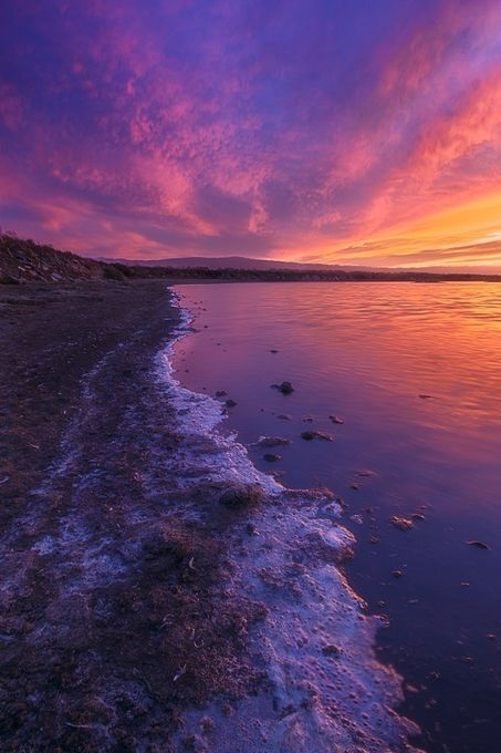 """Intense cloud burn over Alviso Marina County Park located at the southern tip of SF Bay. """"Bay'sEnd"""" by tejapan."""