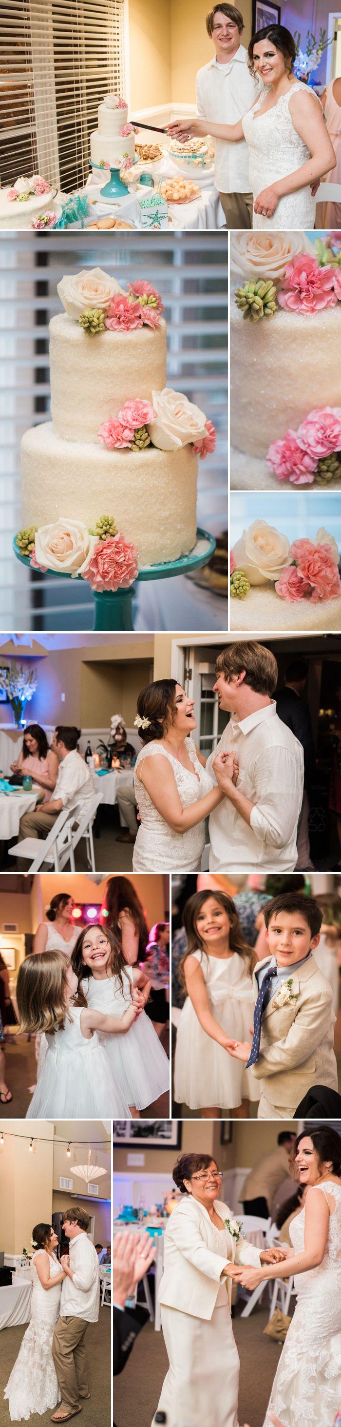 Hochzeitstorte mit Blumen  Bilder: © Derek Chad Photography