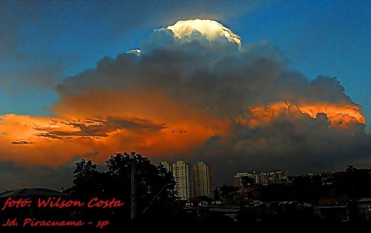 Climatempo  Jardim Piracuama-SP-Brasil espetáculo de nuvem - por: wilson costa às 09:31 30/11/2014 em São Paulo