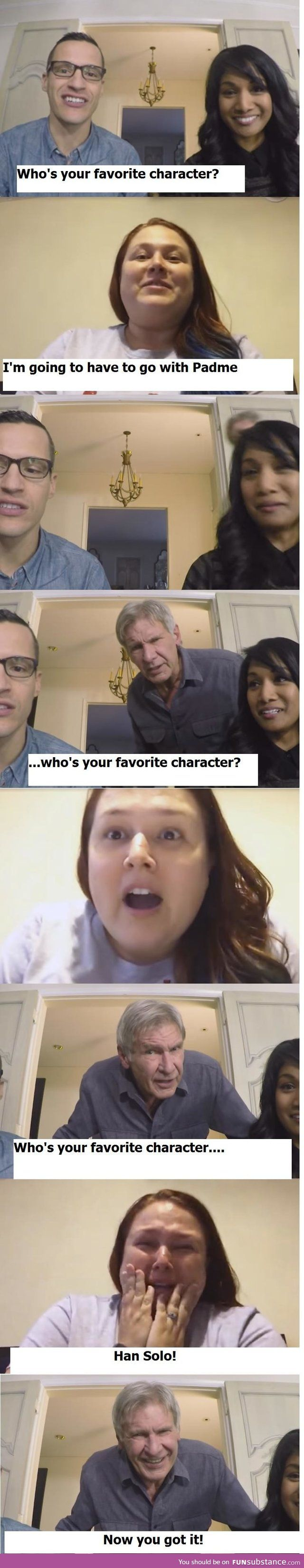 Who's your favorite Star Wars character? Han Solo always
