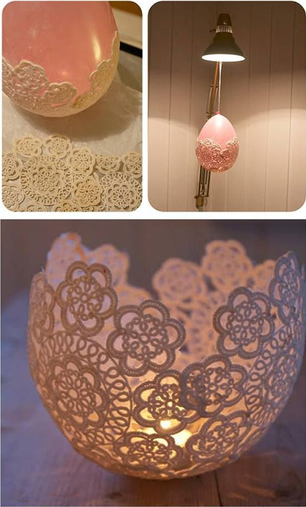 beautiful diy centerpieces with lace and candle