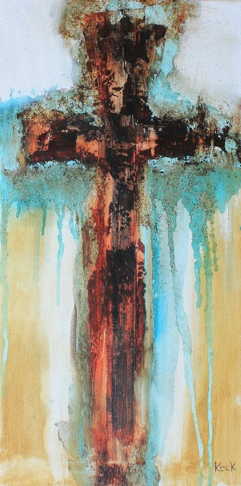 CROSS PAINTINGS by Keck ORIGINAL Abstract Cross Art Painting  #Abstract