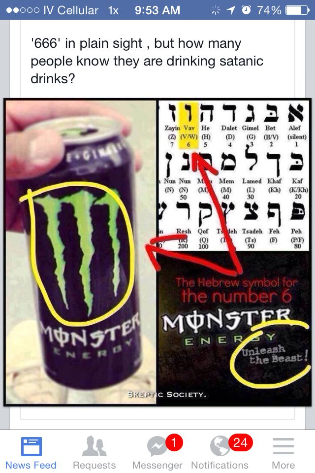 What does the monster sign stand for